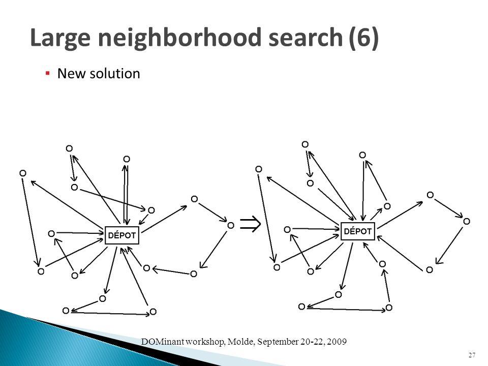 DOMinant workshop, Molde, September 20-22, 2009 ▪ New solution 27 Large neighborhood search (6)