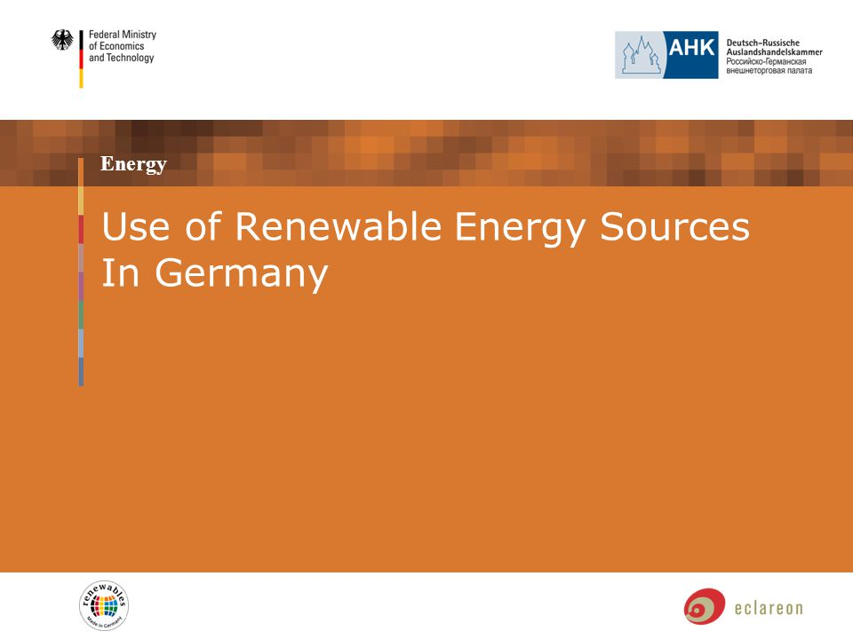 Energy Use of Renewable Energy Sources In Germany