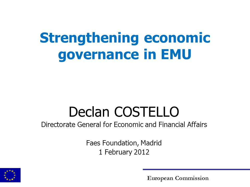 Many elements in the debate Economic policy coordination financial markets, fiscal, competitiveness, growth Crisis-support mechanisms EFSM, EFSF, ESM Institutional design & capacity Euro summitt, Eurogroup, EP
