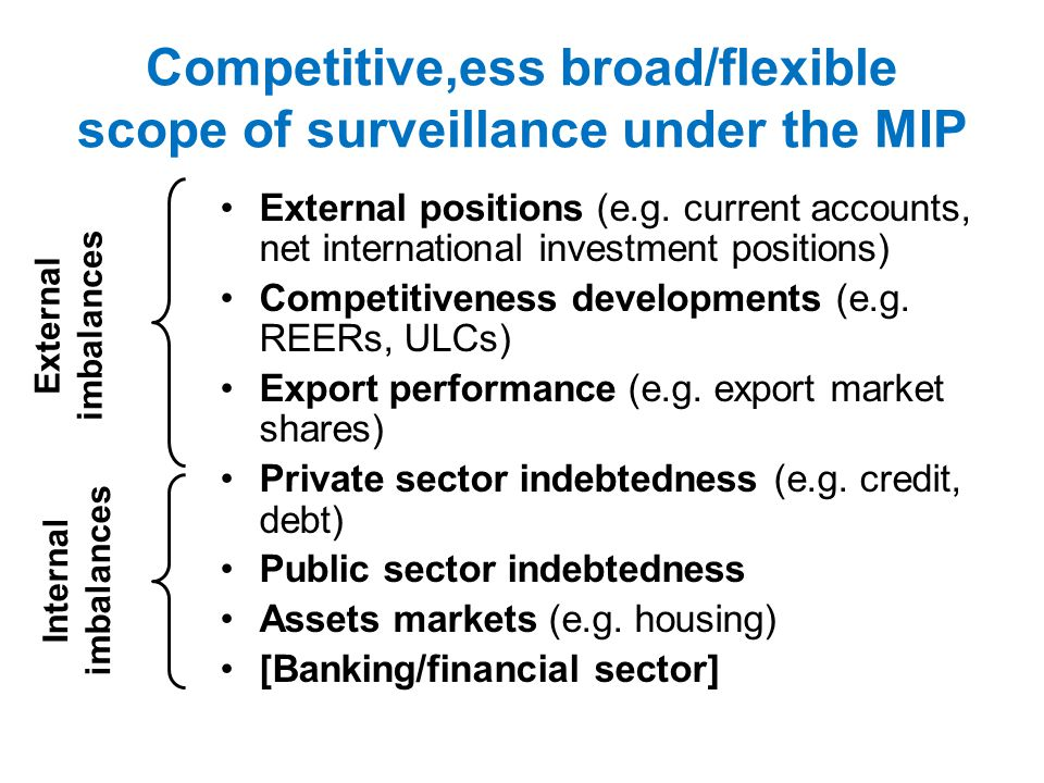 The corrective arm of the MIP Member State is placed in Excessive Imbalance Position Corrective Action Plan Surveillance of compliance with reform commitments Sufficient abeyance Insufficient: interest bearing deposit Insufficient: Fine 0.1% of GDP Insufficient: Fine 0.1% of GDP