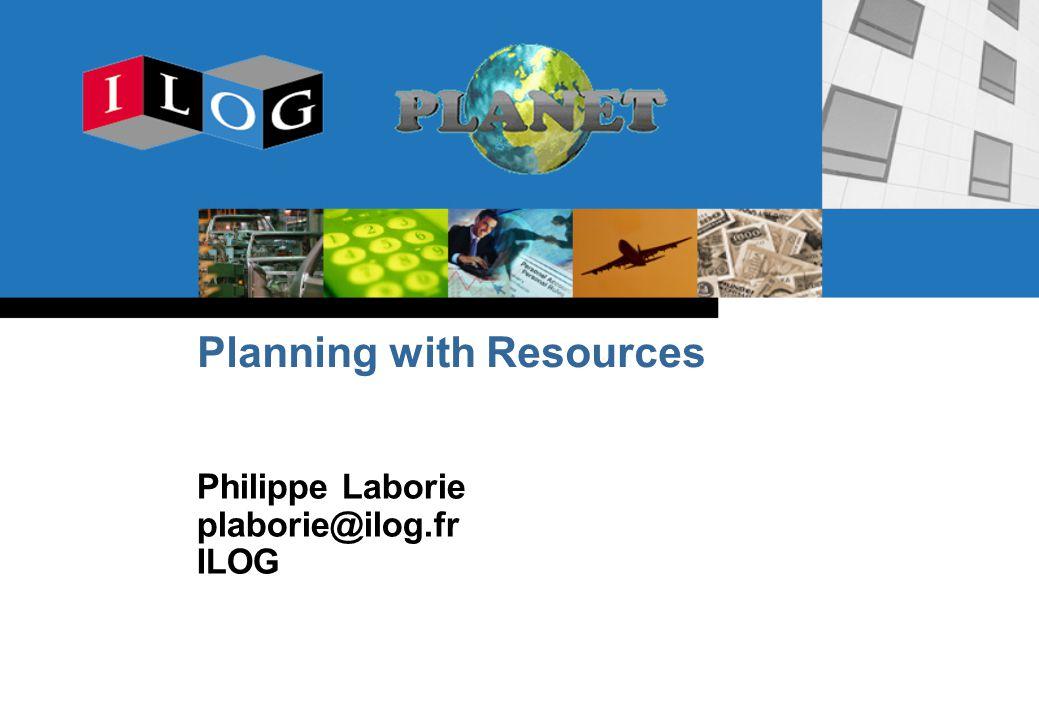 112 PLANET International Summer School on AI Planning, Sept.