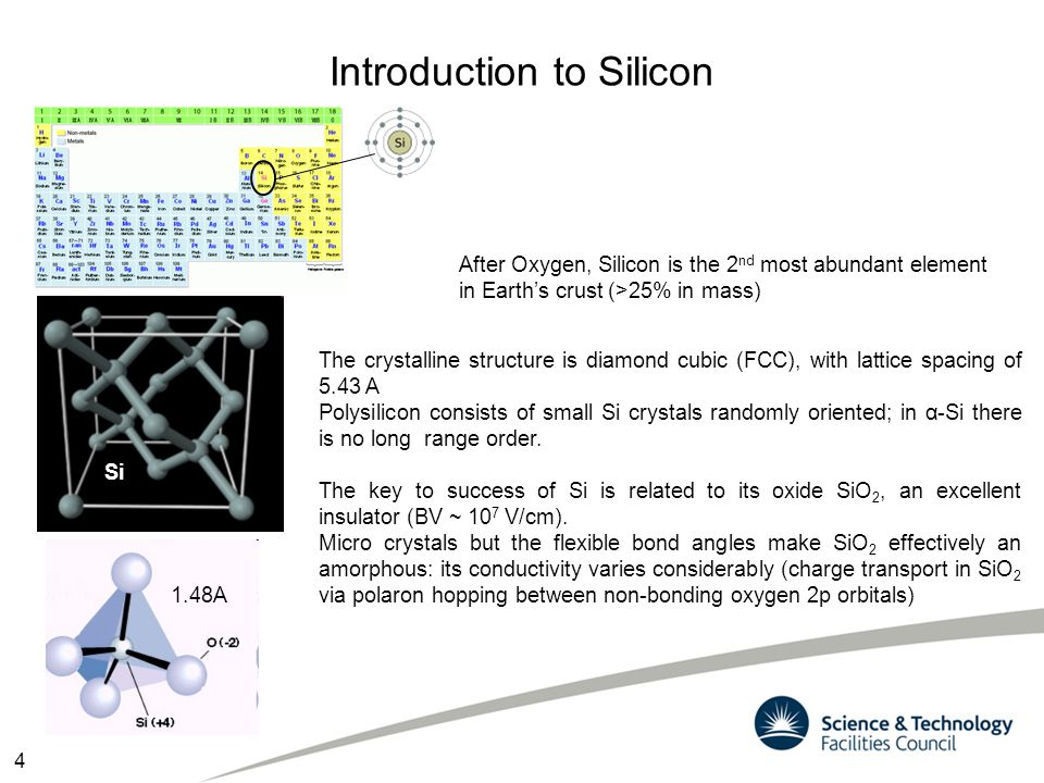 Silicon Band structure The electronic band structure calculation can be done ab-initio using variational approach (DFT) or empirical methods (kp) that solve 1 electron SE in a periodic potential neglecting electrons interaction.