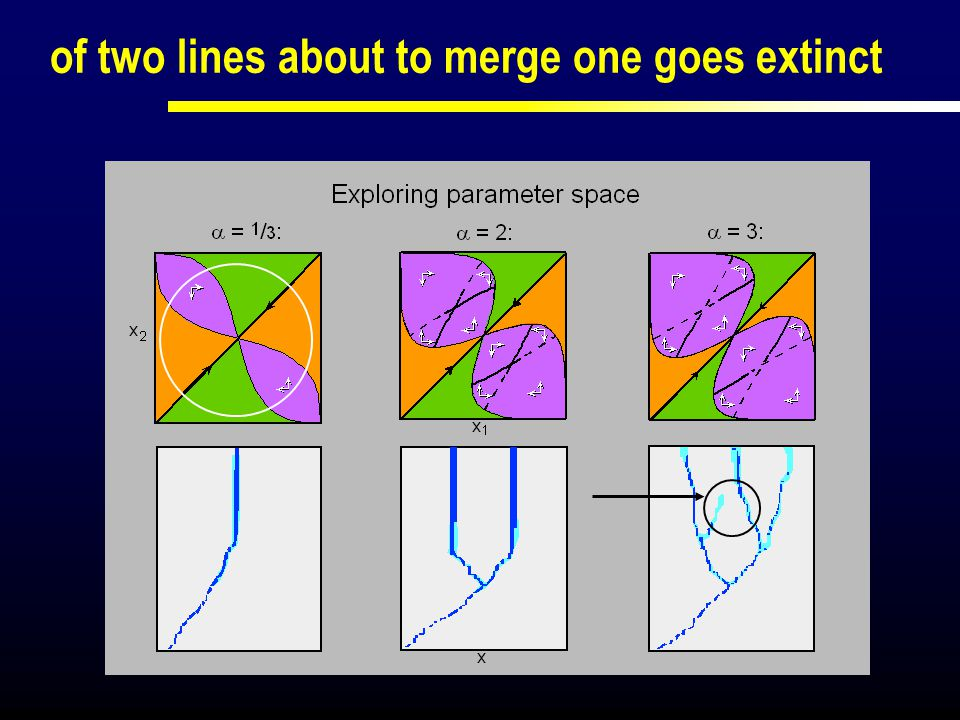 of two lines about to merge one goes extinct