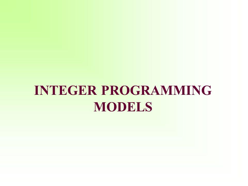 Learning Objectives Formulate integer programming (IP) models.