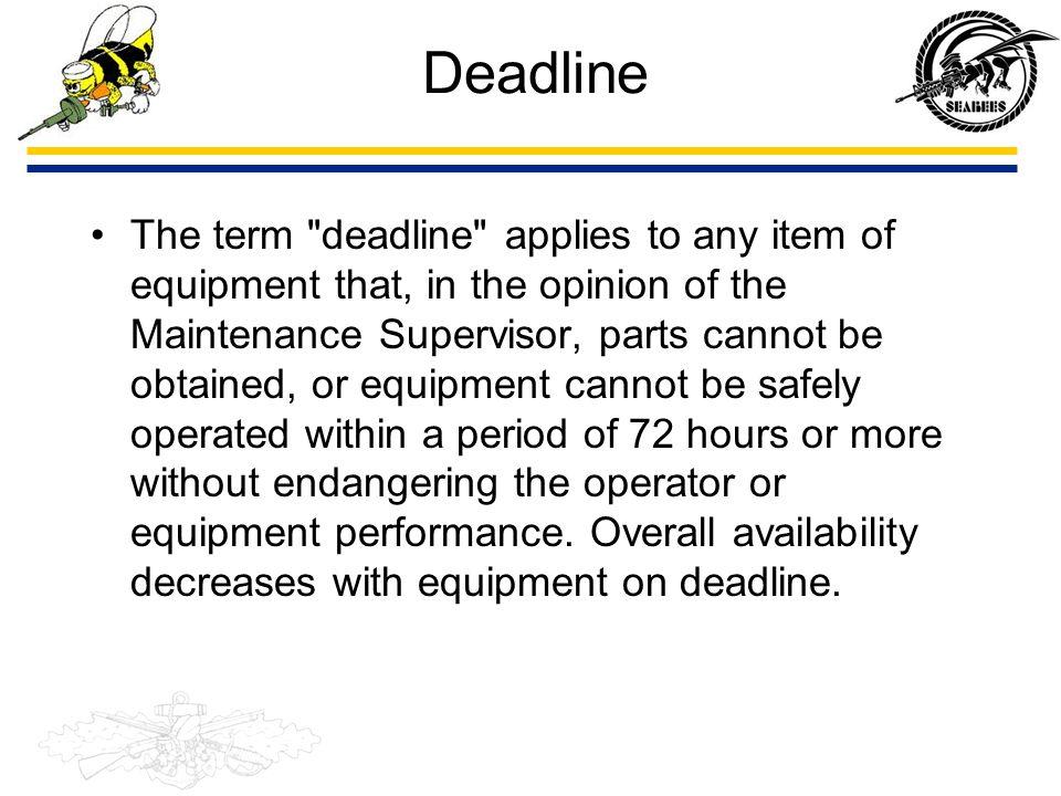 Deadline The term