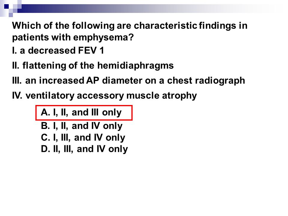 Which of the following are characteristic findings in patients with emphysema.