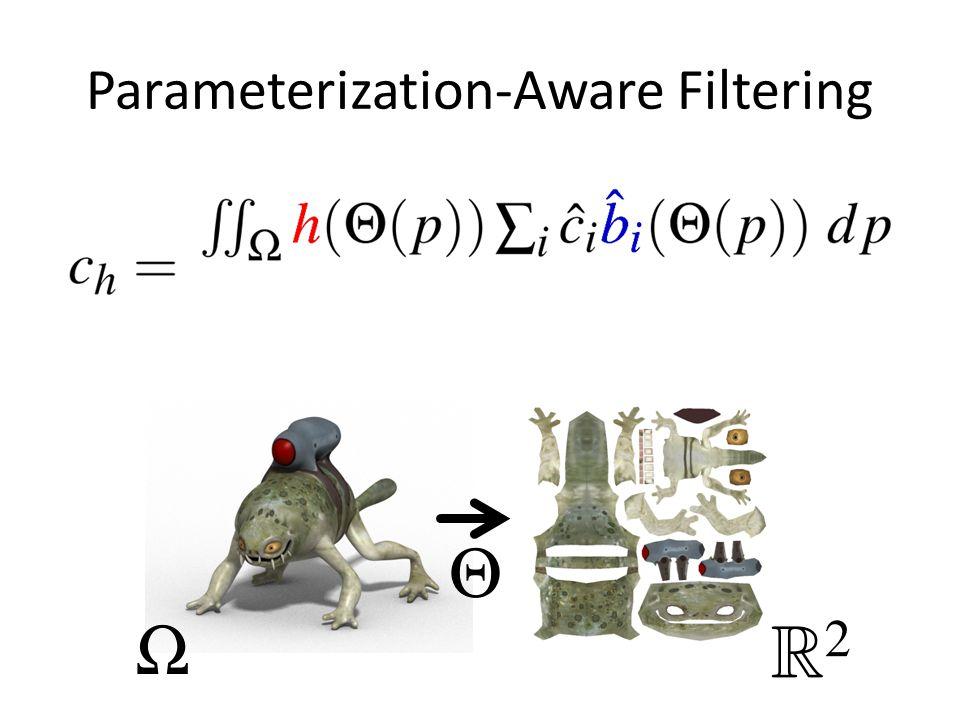Parameterization-Aware Filtering