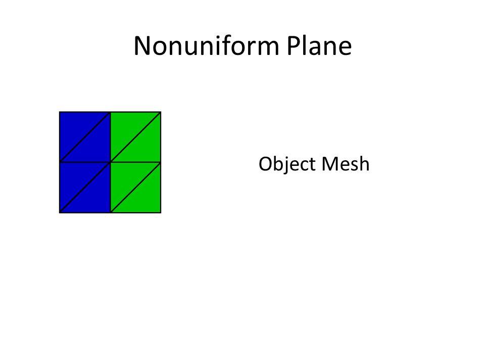 Nonuniform Plane Object Mesh