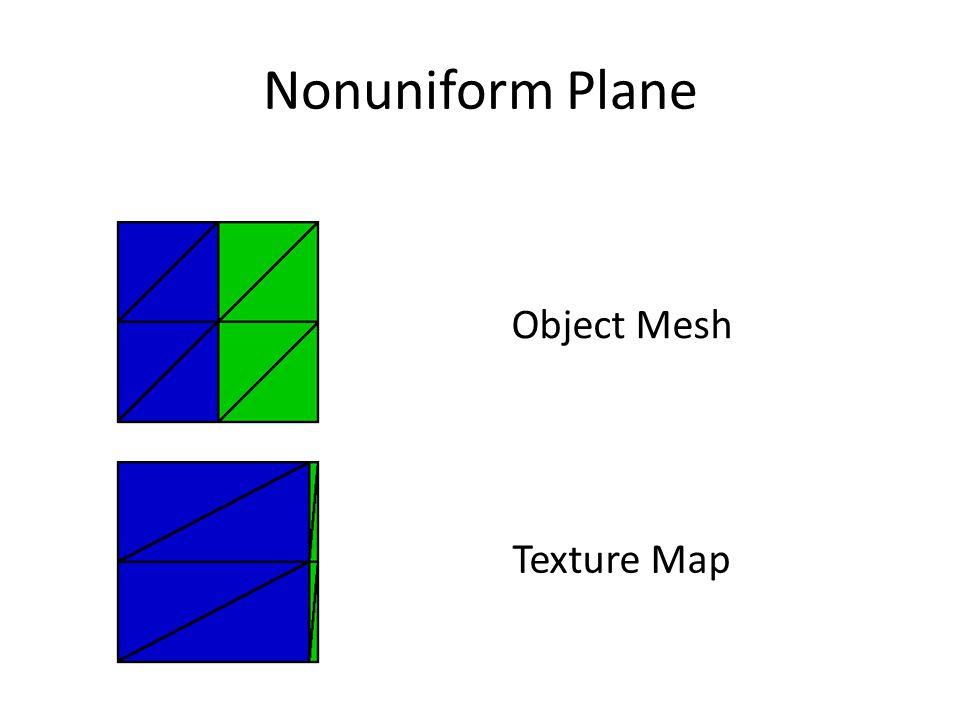 Nonuniform Plane Texture Map Object Mesh