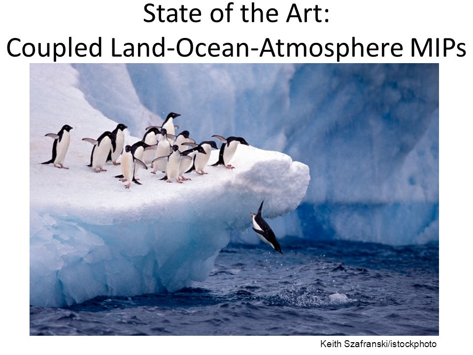 State of the Art: Coupled Land-Ocean-Atmosphere MIPs Keith Szafranski/istockphoto