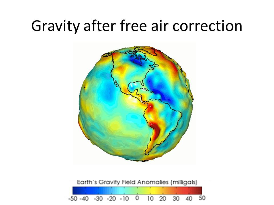 Gravity after free air correction