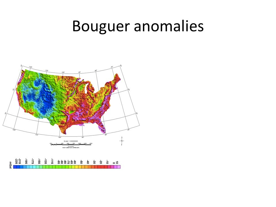 Bouguer anomalies
