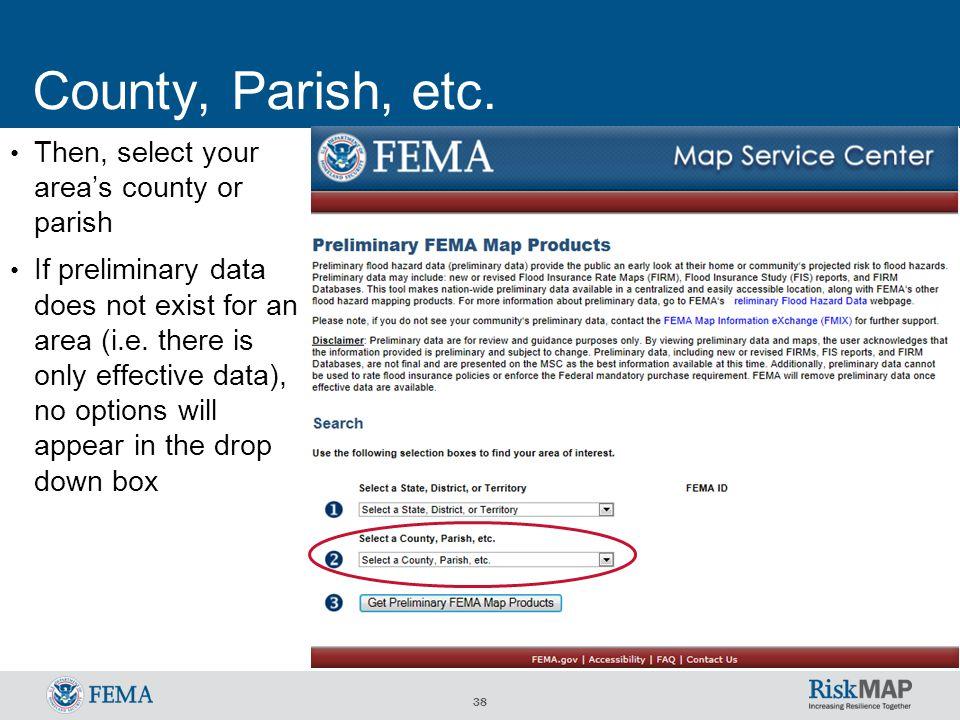 38 County, Parish, etc.