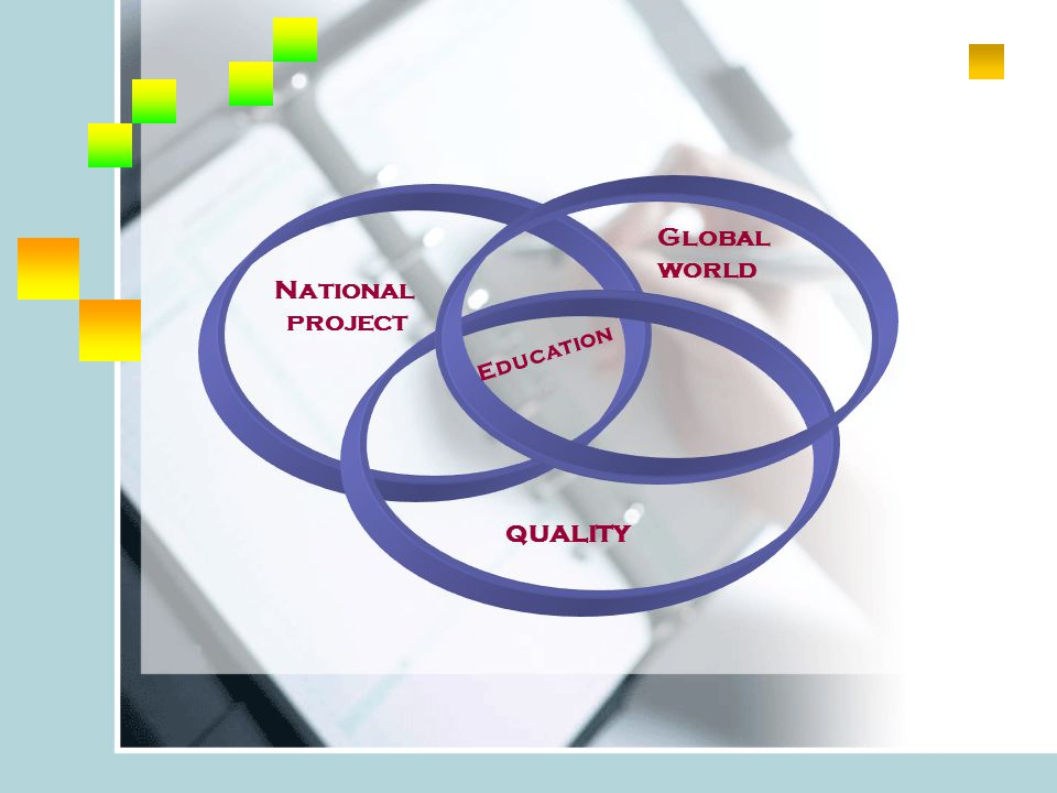 National project Global world quality Education