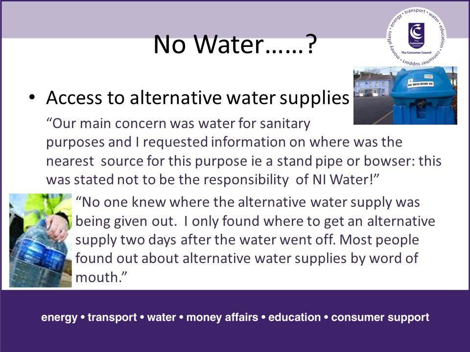 No Water…….