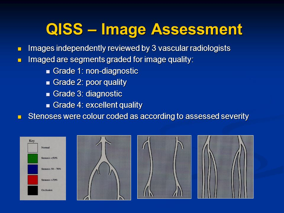 Images independently reviewed by 3 vascular radiologists Images independently reviewed by 3 vascular radiologists Imaged are segments graded for image