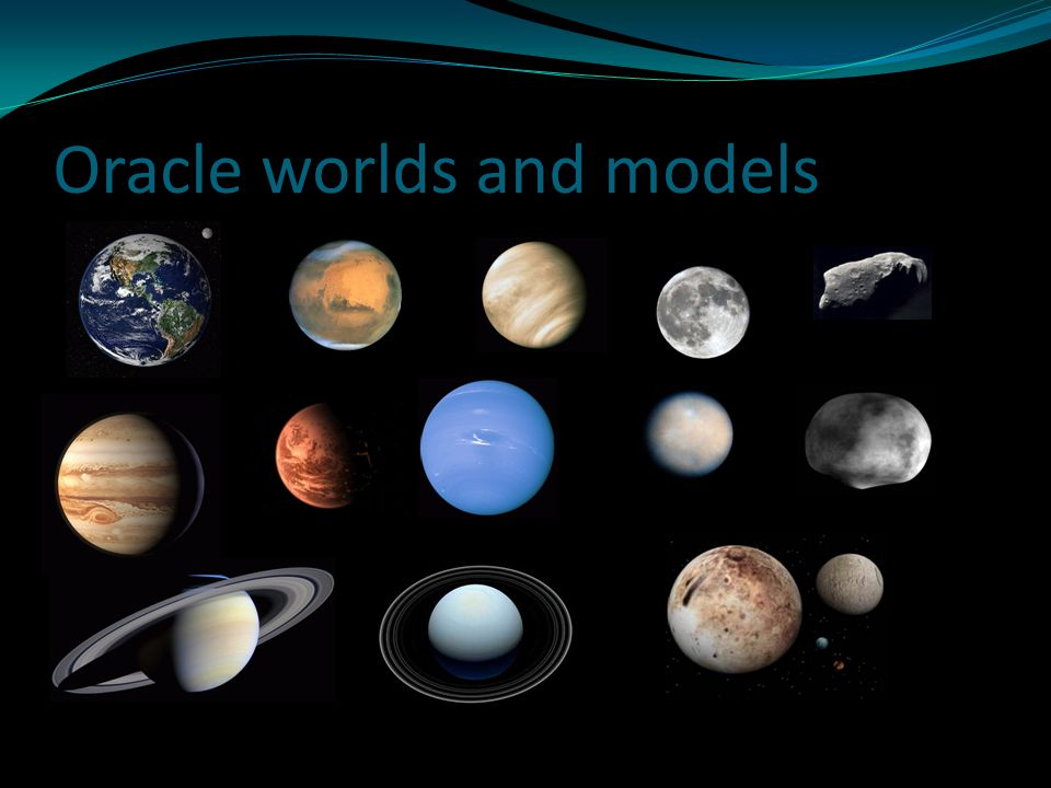 Oracle worlds and models