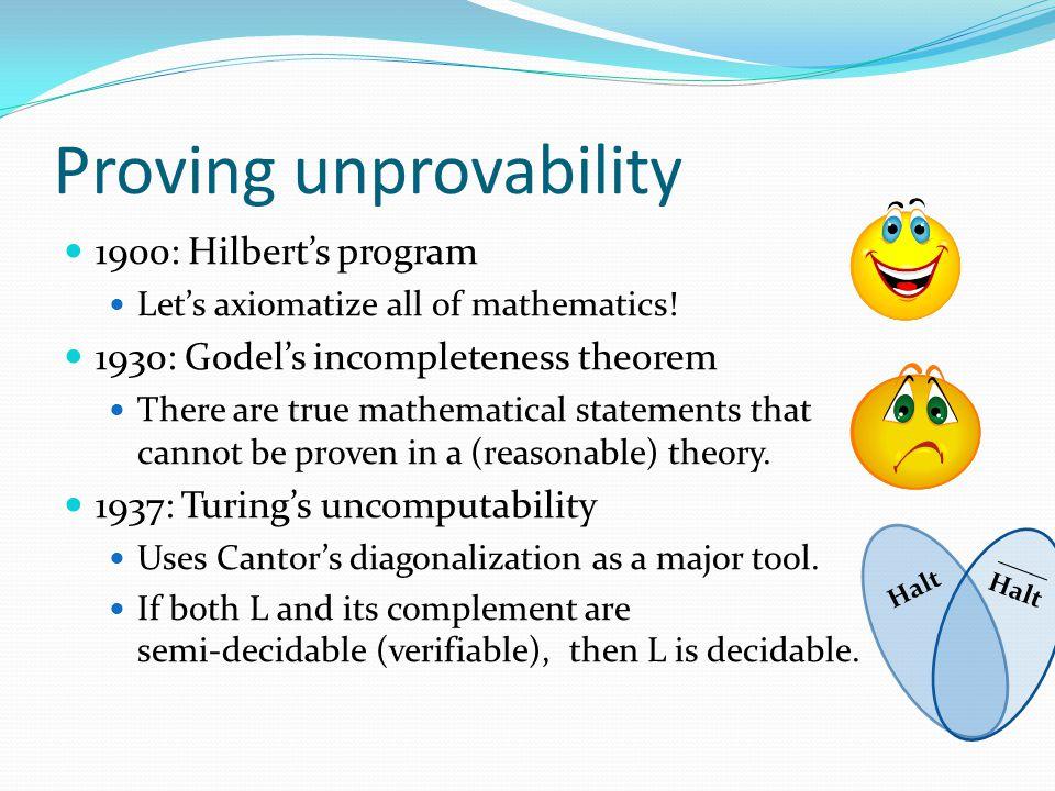 Relativizing Complexity Theory (RCT) [Arora, Impagliazzo, Vazirani '92] Axiomatization of PolyTime Computation s.t.