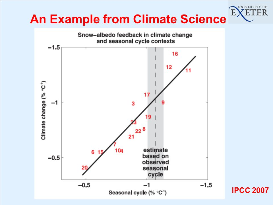 An Example from Climate Science IPCC 2007