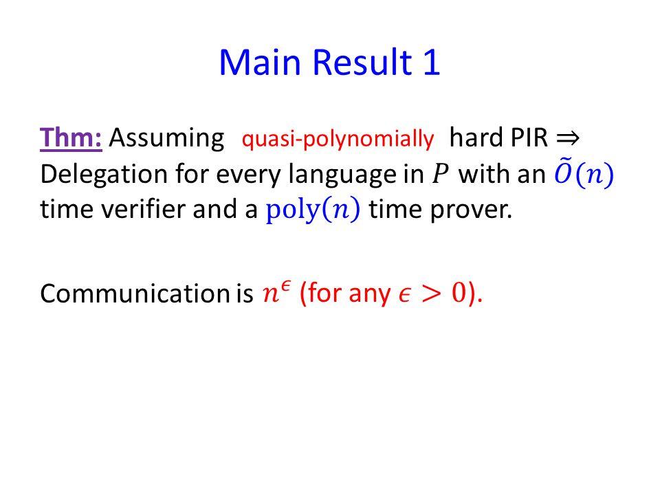 quasi-polynomially