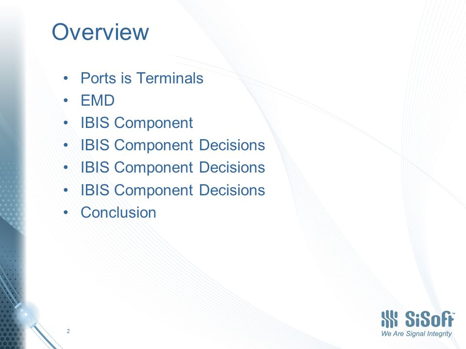 Ports is Terminals We need to agree that we are now going to use the words Terminal (pl.