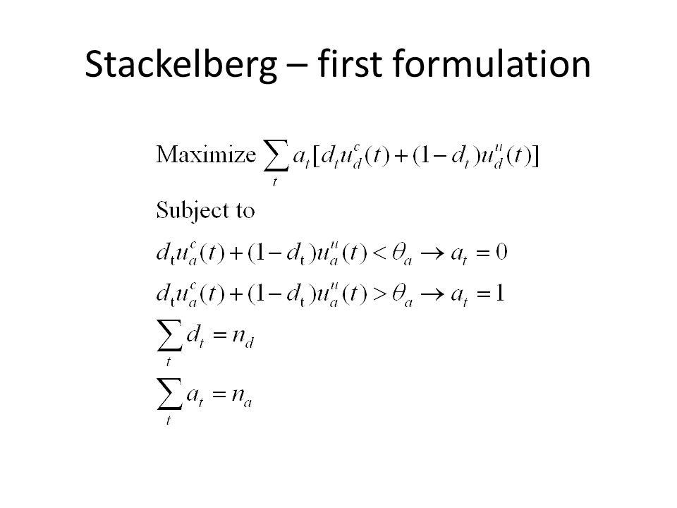 Stackelberg – first formulation