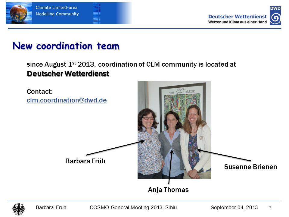 Barbara FrühCOSMO General Meeting 2013, SibiuSeptember 04, 2013 38 CORDEX-Africa Evaluation Papers for CORDEX Africa (status September 2013) Kalognomou E.A., C.