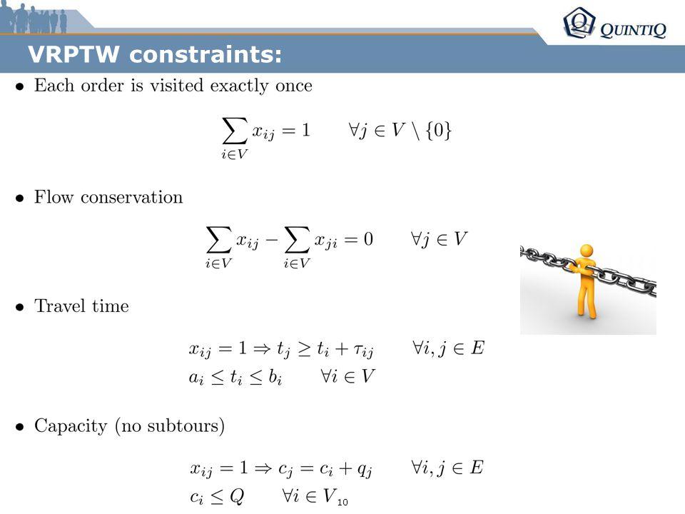 r255/g153/b0 r85/g131/b165 r36/g38/b94 10 VRPTW constraints: