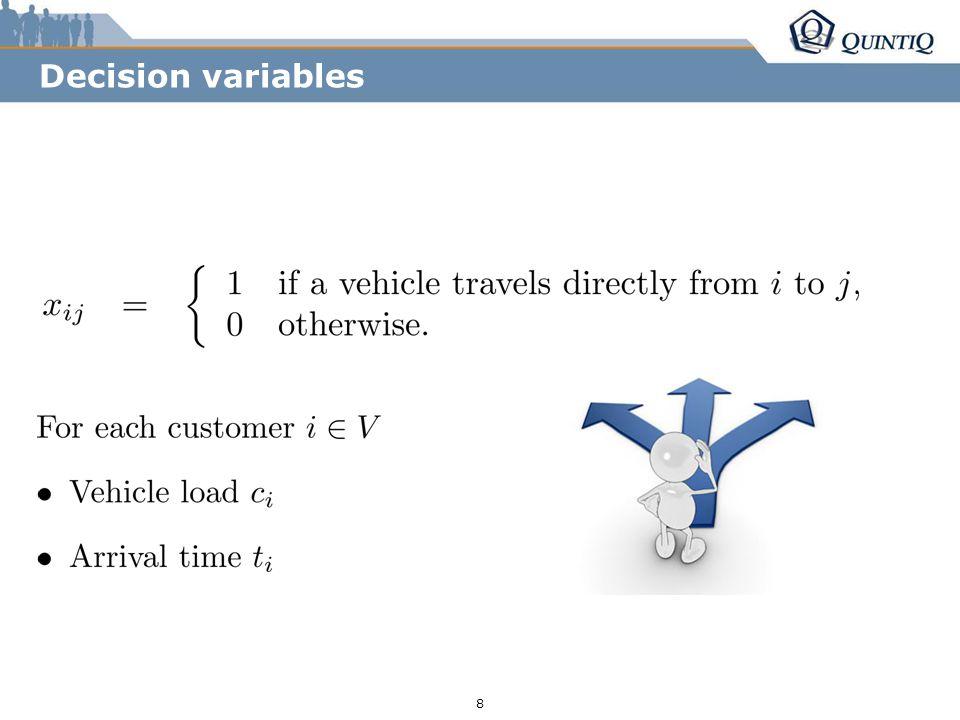 r255/g153/b0 r85/g131/b165 r36/g38/b94 8 Decision variables