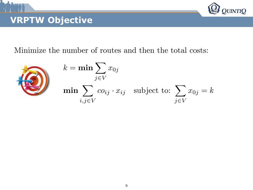 r255/g153/b0 r85/g131/b165 r36/g38/b94 9 VRPTW Objective
