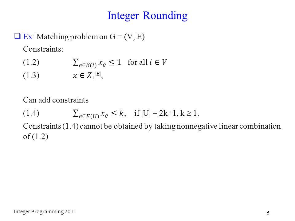 Integer Rounding Integer Programming 2011 5