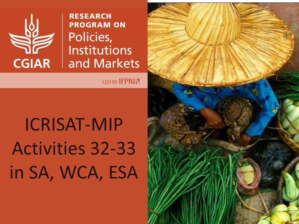 ICRISAT-MIP Activities 32-33 in SA, WCA, ESA