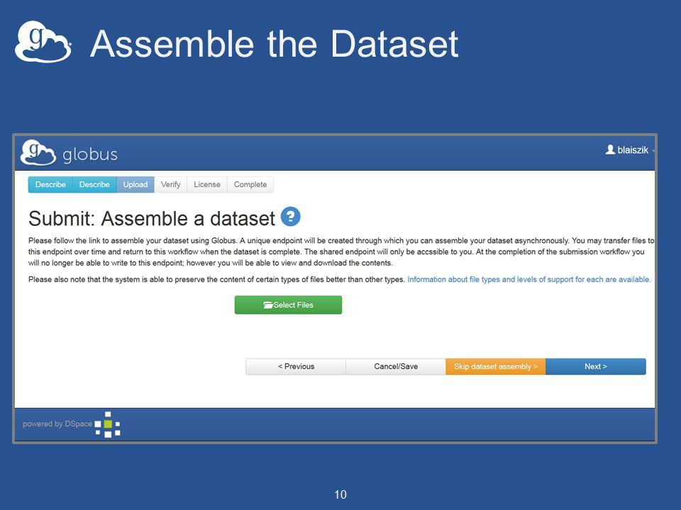 Assemble the Dataset 10