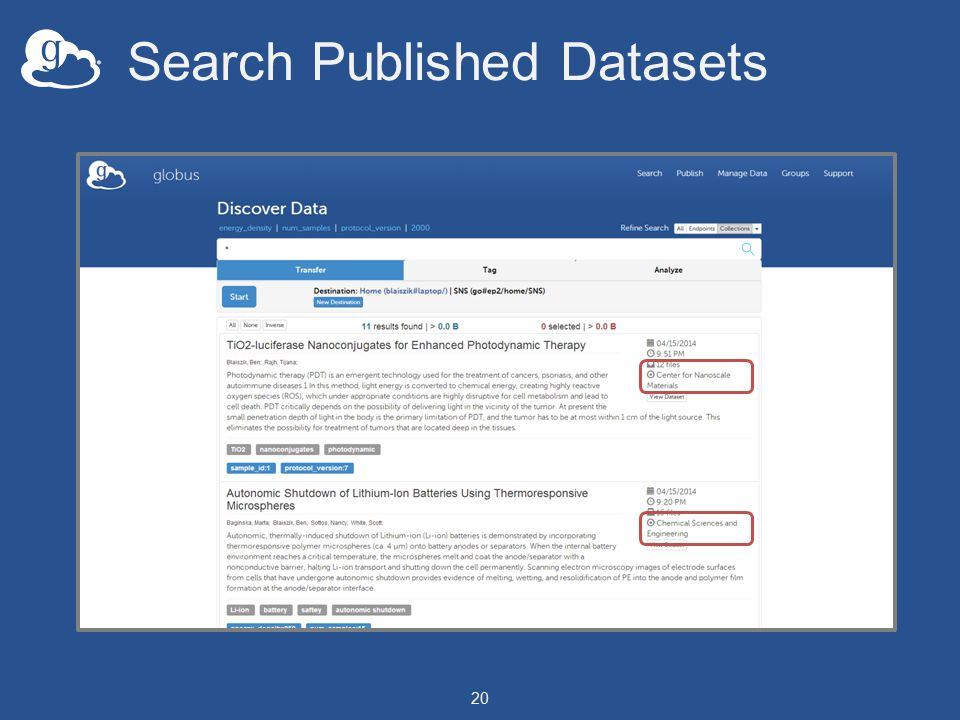 Search Published Datasets 20