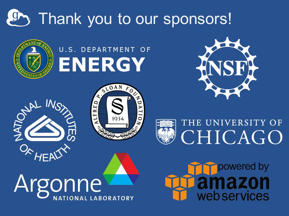 Thank you to our sponsors! U.S. DEPARTMENT OF ENERGY