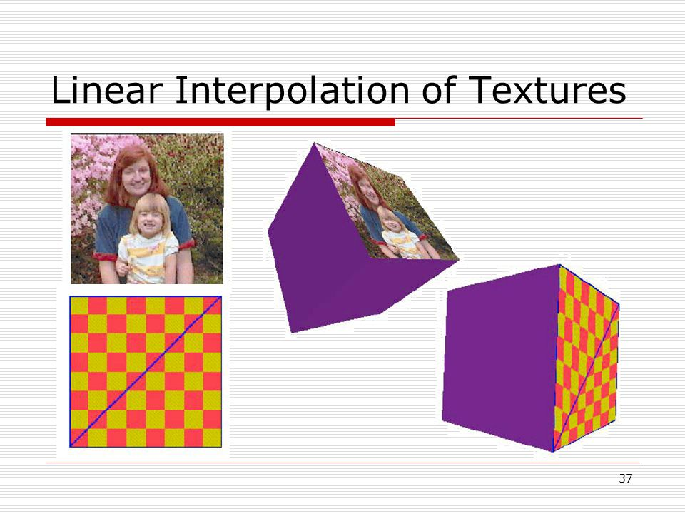 Linear Interpolation of Textures 37