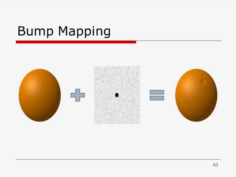 Bump Mapping 63