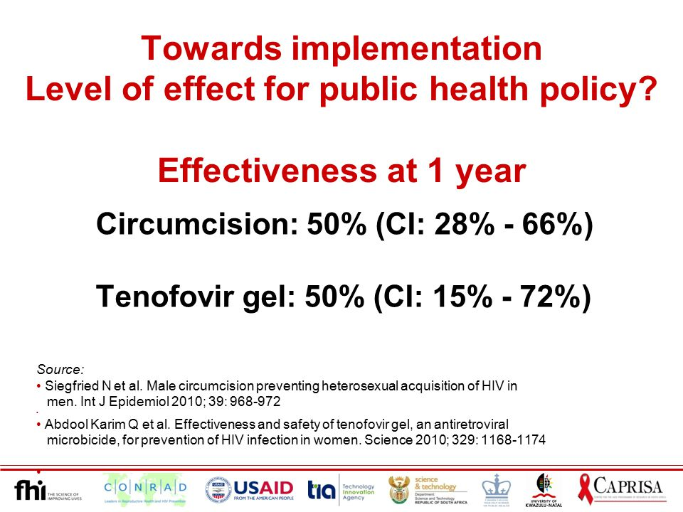 Towards implementation Level of effect for public health policy.