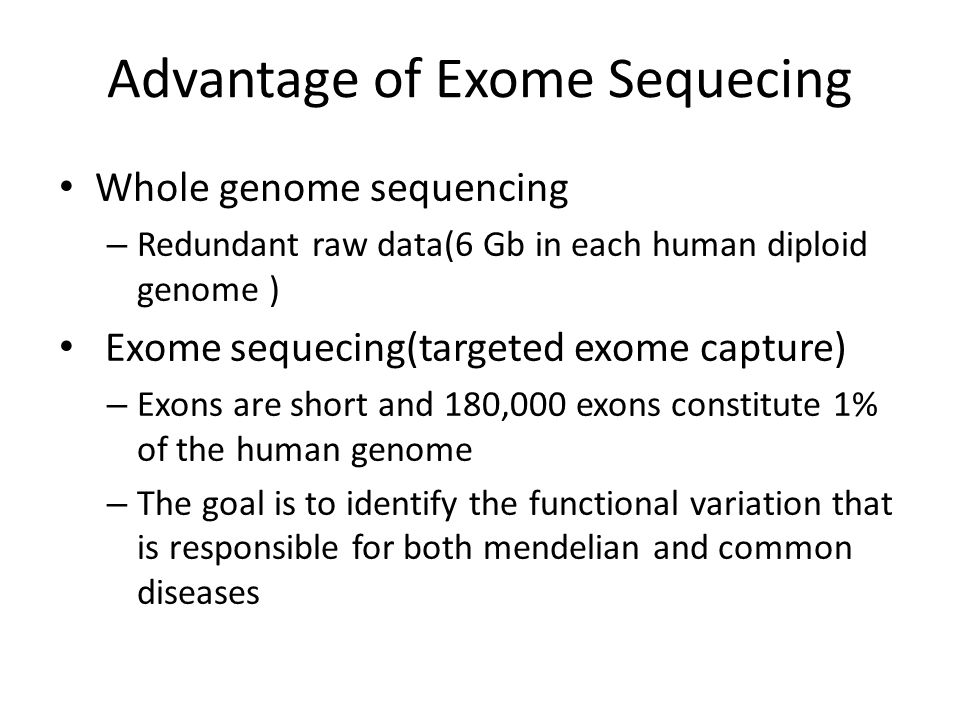 Significance Exome sequencing can be used to identify causal variants of rare disorders The first reported study that used exome sequencing as an approach to identify an unknown causal gene for a rare mendelian disorder