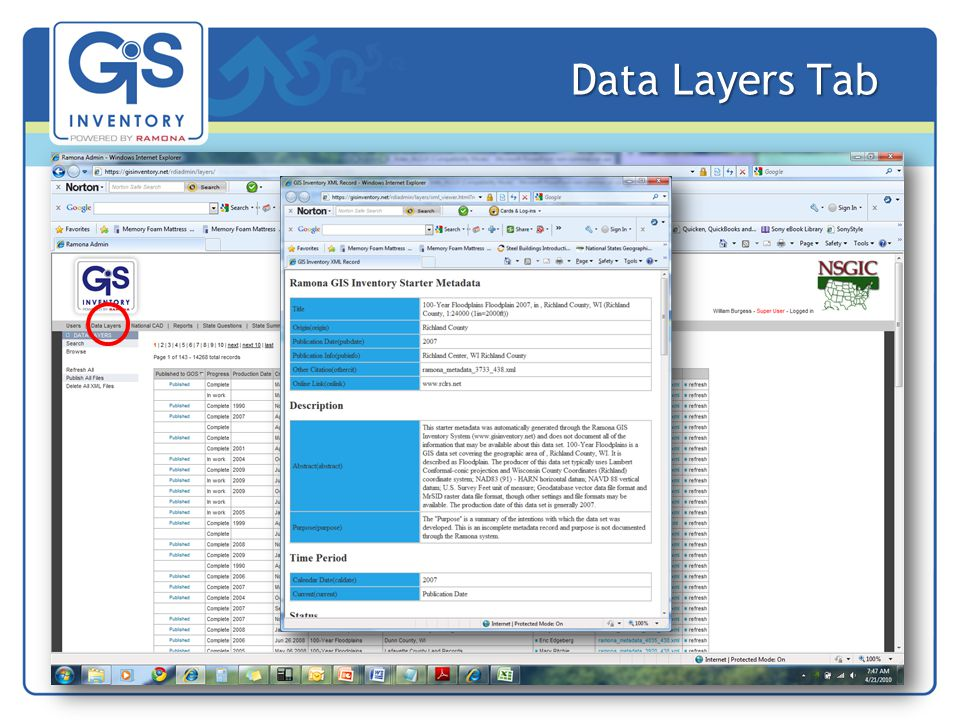 Data Layers Tab