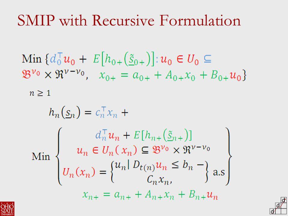 SMIP with Recursive Formulation