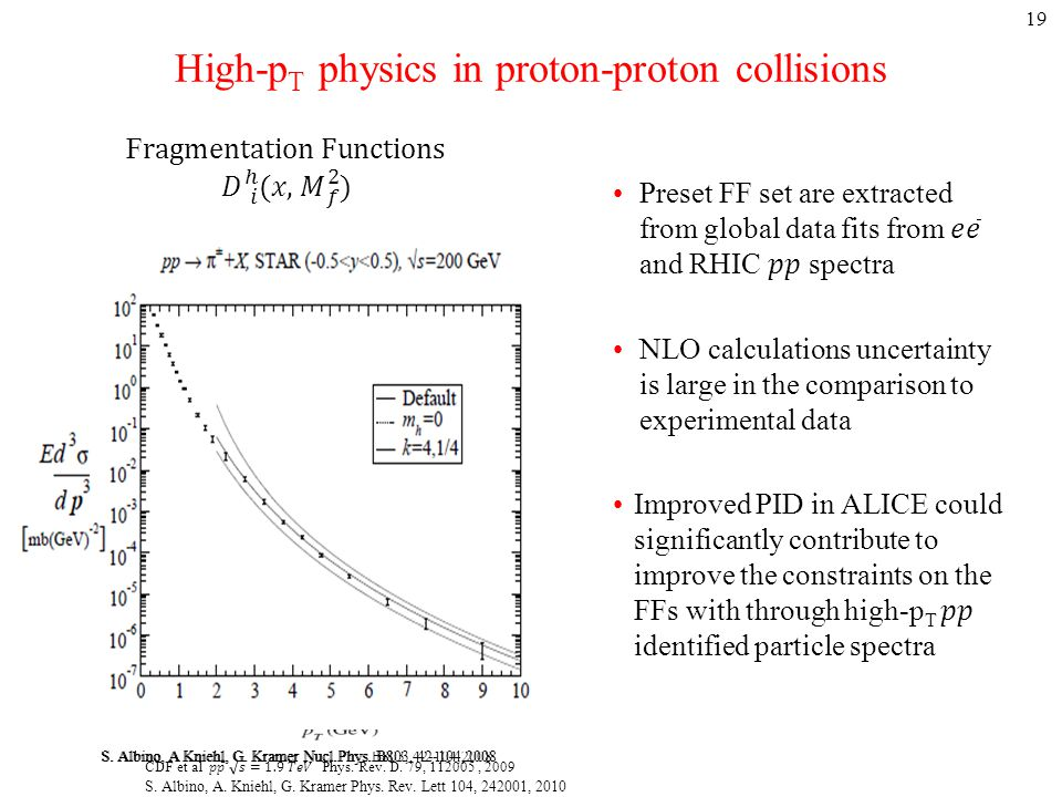 High-p T physics in proton-proton collisions 19 S.
