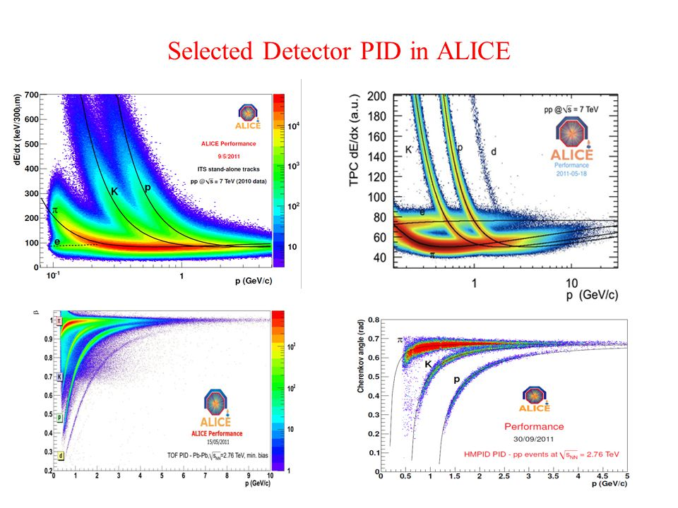 Selected Detector PID in ALICE