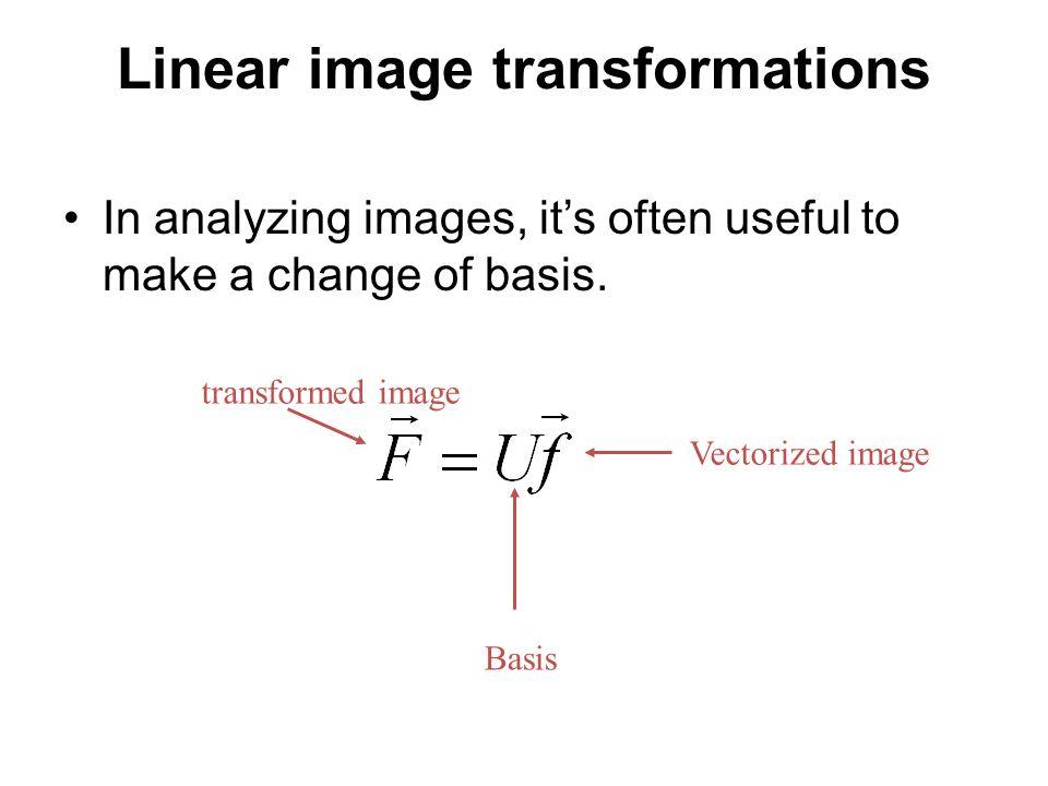Spatial Domain Basis Basis functions: …………..Tells you where things are….