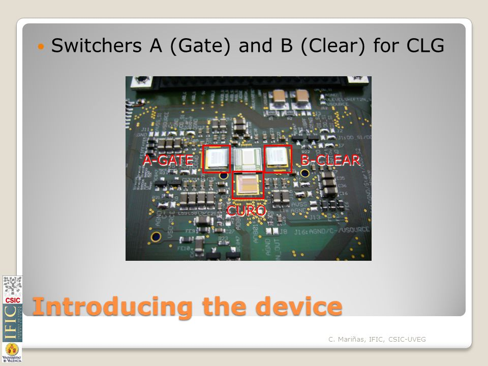 Introducing the device Switchers A (Gate) and B (Clear) for CLG A-GATEB-CLEAR CURO C.