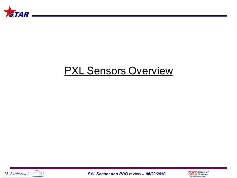 M. Szelezniak1PXL Sensor and RDO review – 06/23/2010 STAR PXL Sensors Overview