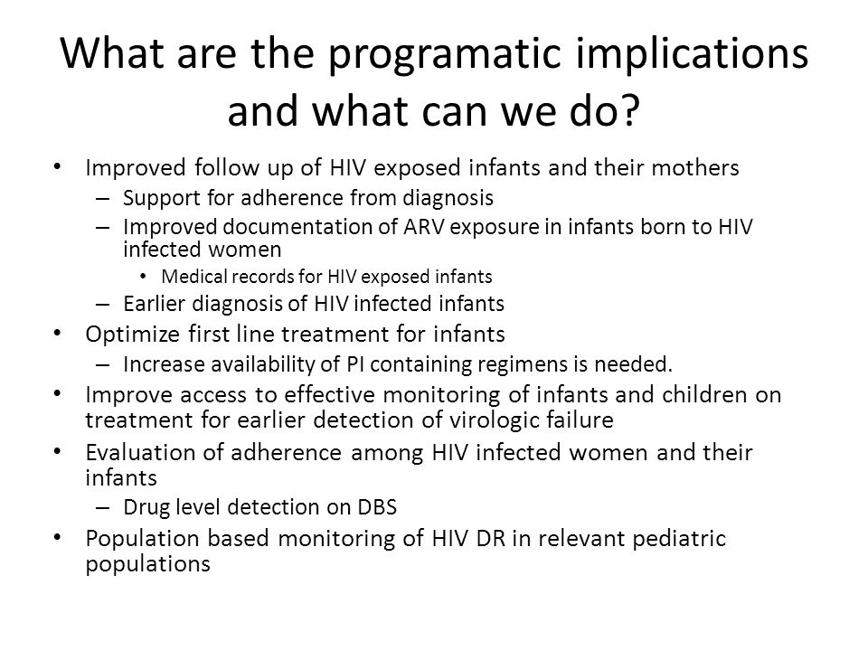 What are the programatic implications and what can we do.