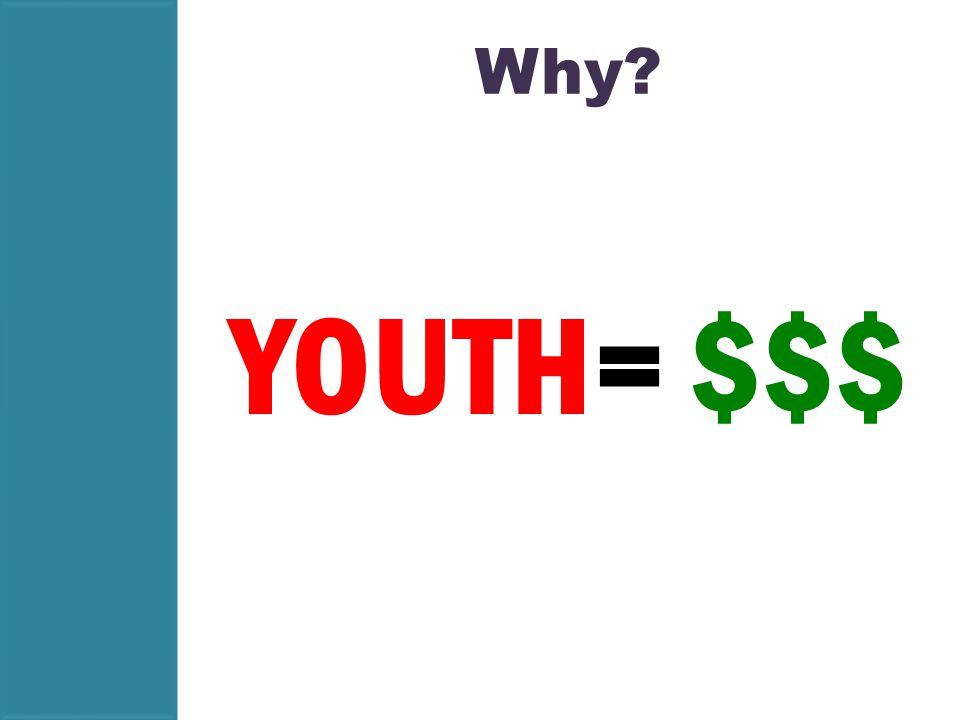 Why YOUTH= $$$
