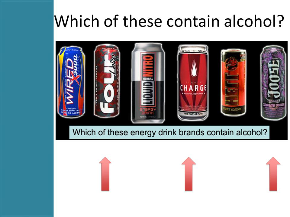 Which of these contain alcohol