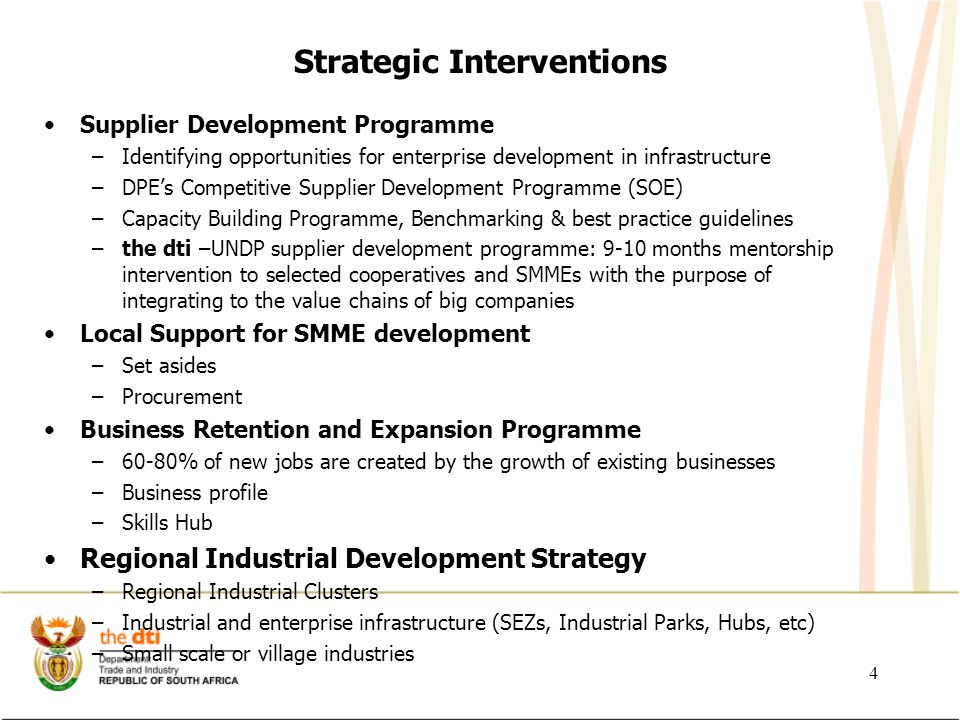 Strategic Interventions continued...
